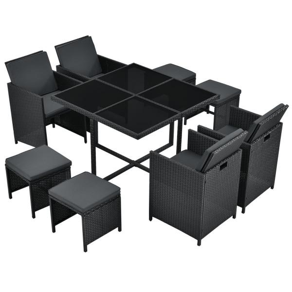 Polyrattan Sitzgruppe Würfel